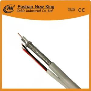 75 Ohm High Braiding Coaxial Cable Rg59 with Power Cable