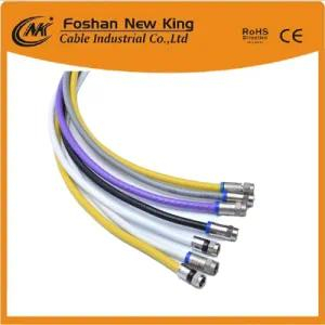 75 Ohm Rg59 Security Cable for Surveillance System with F-Connector