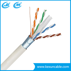 Factory 4X2X23AWG CCA/Bc CAT6 LAN Cable Network Cable 250m Working Distance