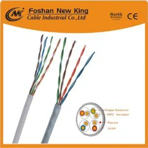UTP/FTP Enthernet LAN Indoor Cable CAT6 Cat5e 4X2X23AWG Grey PVC
