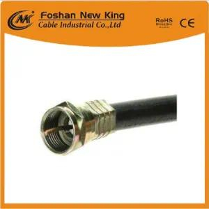 Factory RG6 Coaxial Cable with F Connector for CATV/CCTV Communication