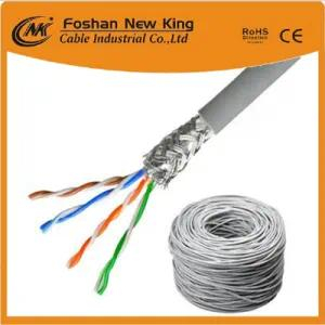 Indoor Outdoor LAN Cable CAT6 Network Cable 23AWG with 0.56mm Solid Copper