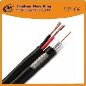 Factory RG6 TV Cable with 2 Power Cable (RG6+2DC) for Antenna Satellite