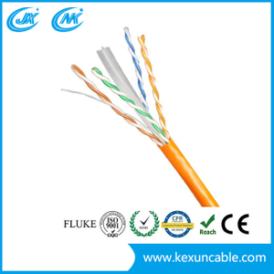 Factory UTP CAT6 Network Cable LAN Cable with Good Transmission Grey Color 23AWG