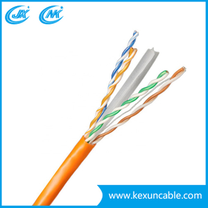 Computer Cable UTP FTP CAT6 LAN Cable with Copper or CCA Conductor Grey Color
