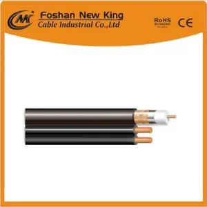 China Copper RG6 Coaxial Cable with Two CCA Power Cable for CCTV CATV (RG6+2DC)