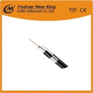 Low Loss Competitive Price Antenna RG6 CCTV Cable with Steel Messenger