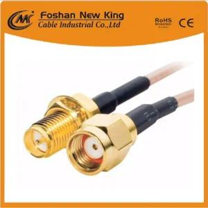 China Factory RG6 Coaxial Cable with F-Connector for CCTV CATV Satellite