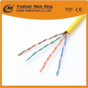 Data Cable UTP CAT6 Network Cable LAN Cable computer Cable with Yellow Color