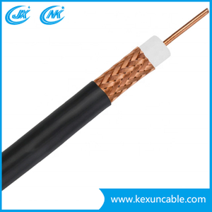 China Factory 75ohm RG6 Quad Shield Coaxial Cable for CCTV/CATV System with 100m