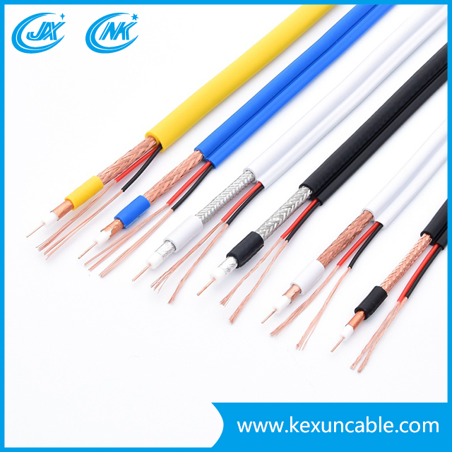 Factory Rg59 with Power Cable (Rg59+2C) Coaxial Cable Camera Cable for Surveillance Monitoring