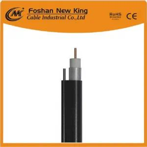 Factory RG6 Coaxial Cable for Satellite Antenna with Steel Messenger