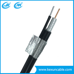 High Quality 75ohm Rg11 +Messenger Coaxial Cable with High Voltage for CATV